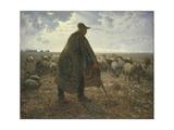 Shepherd Tending His Flock, Early 1860S Giclee Print by Jean-François Millet