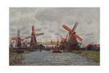Mills at Westzijderveld Near Zaandam, 1871 Giclee Print by Claude Monet
