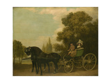 A Gentleman Driving a Lady in a Phaeton, 1787 Giclee Print by George Stubbs