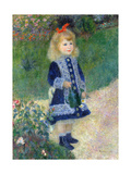 A Girl with a Watering Can, 1876 Giclee Print by Pierre-Auguste Renoir
