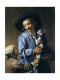 Youths Playing with the Cat, 1620-1625 Lámina giclée por Abraham Bloemaert