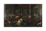 The Purification of the Temple, C. 1580 Giclee Print by Jacopo Bassano