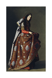 Saint Casilda of Toledo, Ca 1630-1634 Giclee Print by Francisco de Zurbarán
