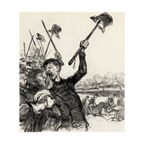 Ratapoil and His Staff: Long Live the Emperor!, 1851 Giclee Print by Honore Daumier