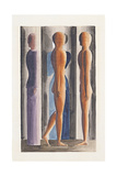Formation, Tri-Partition, 1926 Giclee Print by Oskar Schlemmer