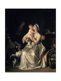 Motherhood, 1800S Giclee Print by Marguerite Gerard