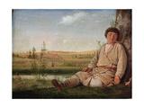 Sleeping Shepherd Boy, 1823 Giclee Print by Alexei Gavrilovich Venetsianov
