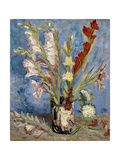 Vase with Gladioli and China Asters, 1886 Giclee Print