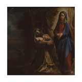 The Vision of Saint Francis, Ca 1586 Giclee Print by Lodovico Carracci