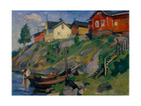 A Country Village in Finland, 1915 Giclee Print by Osip Emmanuilovich Braz