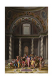 The Purification of the Temple, after 1550 Giclee Print by Marcello Venusti