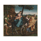 The Flight into Egypt, 1534 Giclee Print by Jacopo Bassano