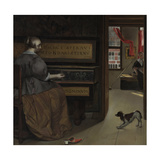 Lady at a Virginal, Ca 1665 Giclee Print by Gabriel Metsu