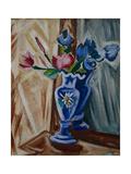 Blue Vase with Flowers, 1913 Giclée-trykk av Olga Vladimirovna Rozanova