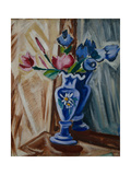 Blue Vase with Flowers, 1913 Giclee Print by Olga Vladimirovna Rozanova