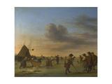 Golfers on the Ice Near Haarlem, 1668 Giclée-Druck von Adriaen van de Velde