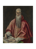 Saint Jerome as Cardinal, 1590-1600 Giclee Print by  El Greco