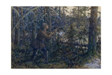 Capercaillie Hunting, 1937 Giclee Print by Ernest Ernestovich Lissner