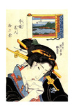 From the Series the Beauties of Tokaido, 1830-1835 Giclee Print by Keisai Eisen
