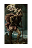 Saint Christopher, 1559 Giclee Print by Jacopo Bassano