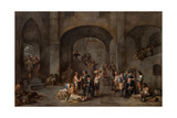 To Visit the Imprisoned, C. 1640 Giclee Print by Cornelis De Wael