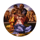 The Holy Family (The Doni Tond) Giclée-tryk af Michelangelo Buonarroti,