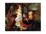 Rest on the Flight into Egypt, Ca. 1597 Giclée-tryk af Caravaggio