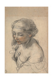 Bust of a Young Woman Turned to the Left, 1637 Giclee Print by Pietro da Cortona
