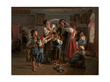 The Conscript's Farewell, 1854 Giclee Print by Ferdinand Georg Waldmüller