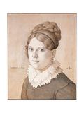 Portrait of Henriette Schnorr Von Carolsfeld, 1817 Giclee Print by Julius Schnorr von Carolsfeld