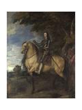 Equestrian Portrait of Charles I, Ca 1638 Giclee Print