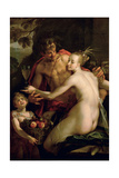 Bacchus, Ceres and Amor, Ca. 1600 Giclee Print by Hans von Aachen