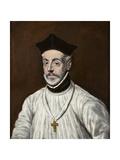 Portrait of Diego De Covarrubias Y Leiva Giclee Print by  El Greco