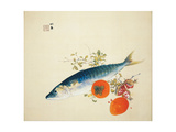 Autumn Fattens Fish and Ripens Wild Fruits, 1925 Giclee Print by Takeuchi Seiho