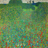 Gustav Klimt - Poppy Field, 1907 Digitálně vytištěná reprodukce