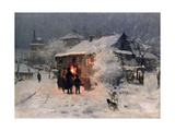 The Christmas Carol in the Ukraine Giclee Print by Nikolai Kornilovich Pimonenko