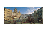 The Piazza Navona in Rome, 1699 Giclee Print