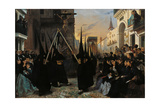 A Procession Along Calle Génova Giclee Print by Alfred Dehodencq