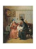 Tea Drinking, 1895 Giclee Print by Alexey Avvakumovich Naumov