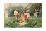 At the Bee Yard, 1890 Giclee Print