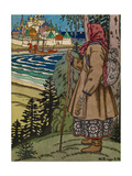 Peasant Girl. Illustration to the Book Contes De L'Isba, 1931 Giclee Print by Ivan Yakovlevich Bilibin
