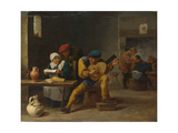 Peasants Making Music in an Inn, C. 1635 Giclee Print by David Teniers the Younger