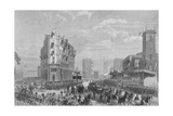 Queen Victoria in Holborn Circus on Her Way to the Opening of Holborn Viaduct, London, 1869 Giclee Print