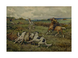 Hunting with Borzois, 1937 Giclee Print
