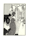 The Toilet (Illustration for the Rape of the Lock by Alexander Pop), 1894 Giclee Print by Aubrey Beardsley