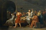 La mort de Socrate,1787 Reproduction procédé giclée par Jacques Louis David