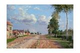 Route De Versailles, Rocquencourt, 1871 Reproduction procédé giclée par Camille Pissarro