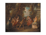 Children at Play in the Open Giclee Print by Nicolas Lancret