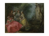 The Four Times of Day: Midday, C. 1740 Giclee Print by Nicolas Lancret
