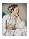 Woman in Turkish Dress, Mid of the 18th C Giclee Print by Jean-Étienne Liotard